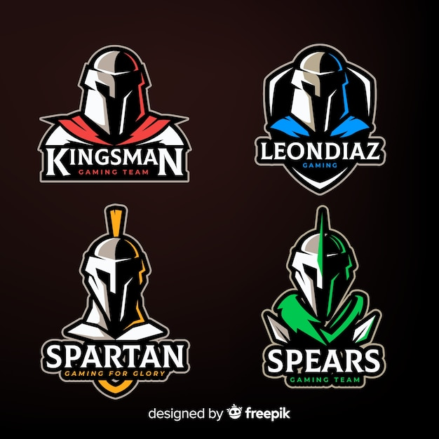 Set of spartan badges Free Vector