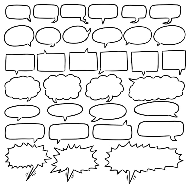 Set of speech bubbles Premium Vector