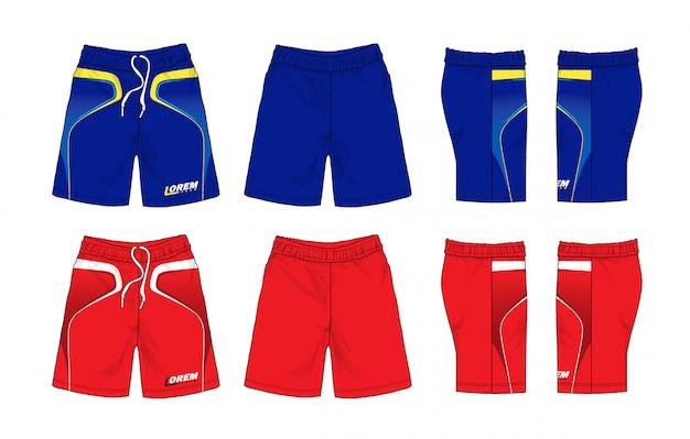 Set of sport shorts Premium Vector