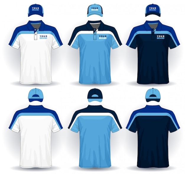 Set of sport uniform Premium Vector