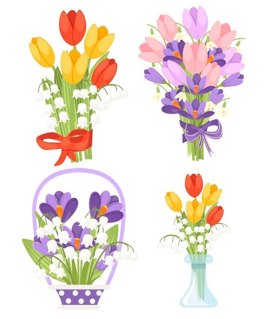 Purple and Yellow Tulip Clip Art
