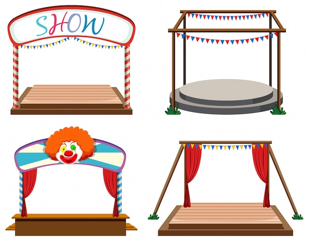 Set of stages white background Free Vector