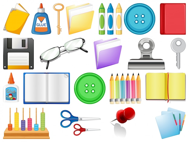 Set of stationary object Free Vector