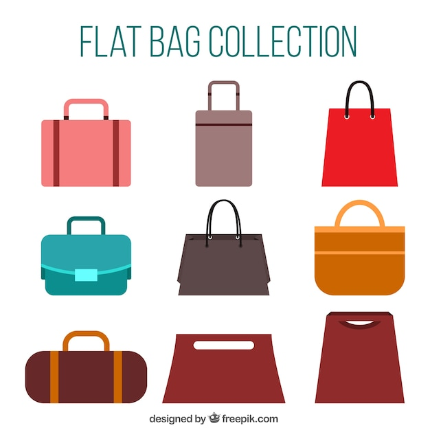Set of stylish handbags Free Vector