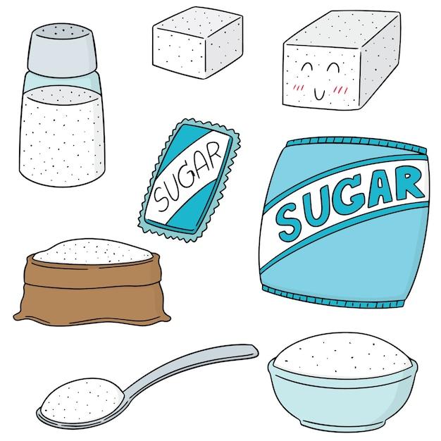 Set of sugar Premium Vector