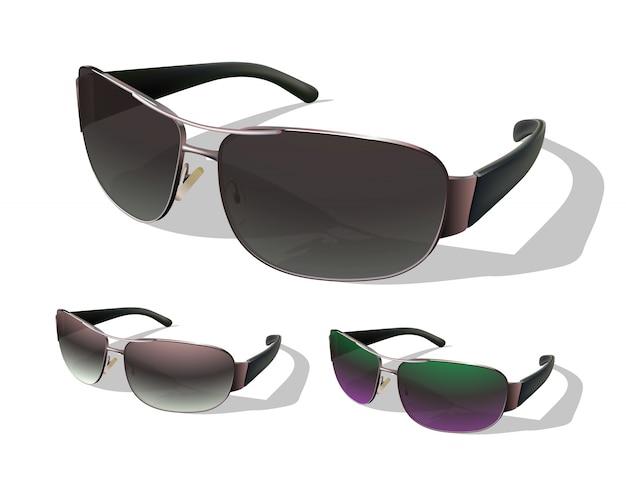 Set sunglasses. Premium Vector