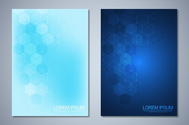 Set of template brochure or cover book Premium Vector