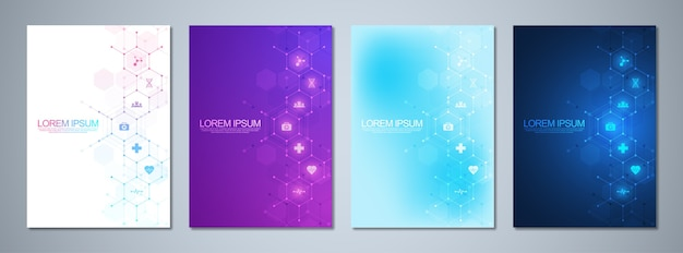 Set of template brochures or cover book, page layout, flyer . Premium Vector