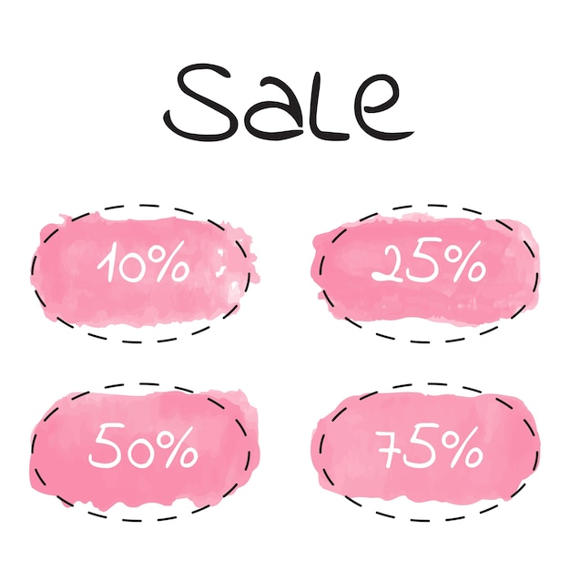 A set of templates for sale. Premium Vector