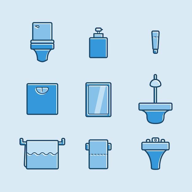 Set of toilet icon Premium Vector