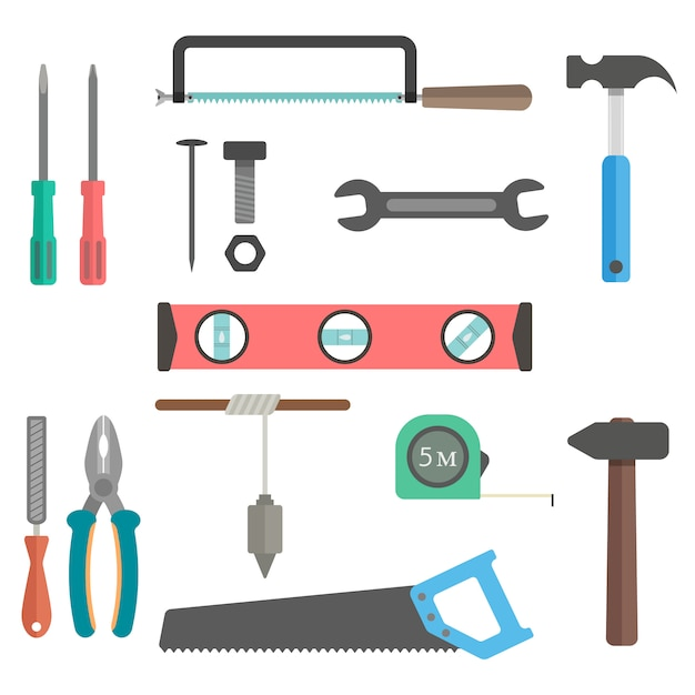 Set of tools Premium Vector
