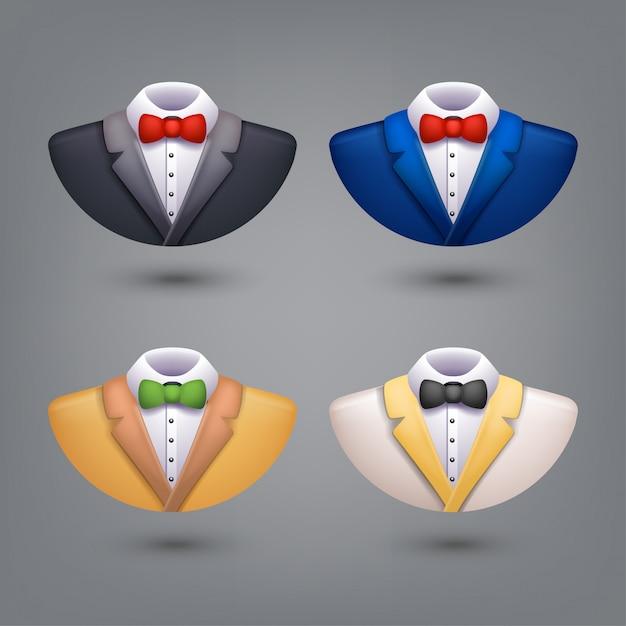 Set of tuxedo Premium Vector