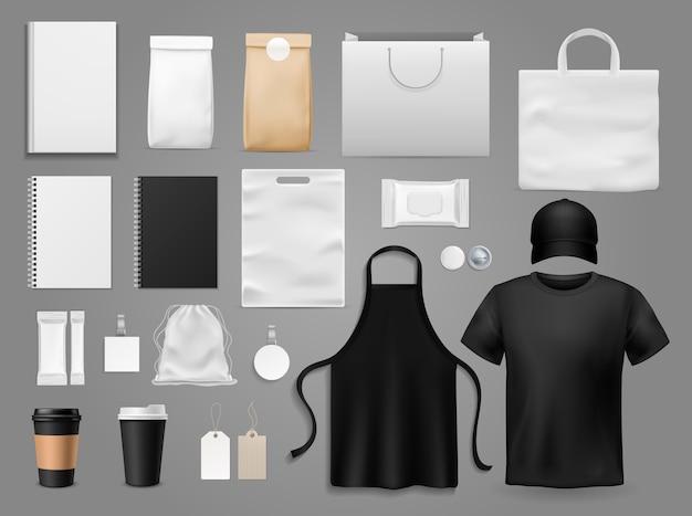 Set of various barrista accessories Premium Vector