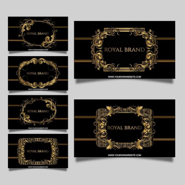 Set of vintage business cards Premium Vector
