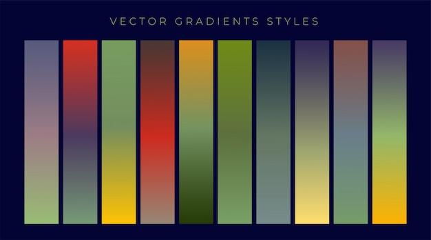 Set of vintage gradients design Free Vector