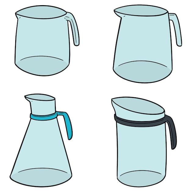 Set of water pitcher Premium Vector