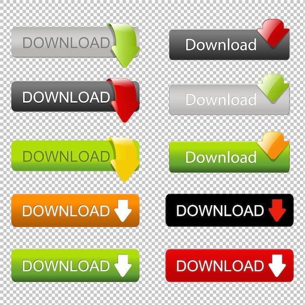 矢印でweb要素のダウンロードを設定する Premiumベクター