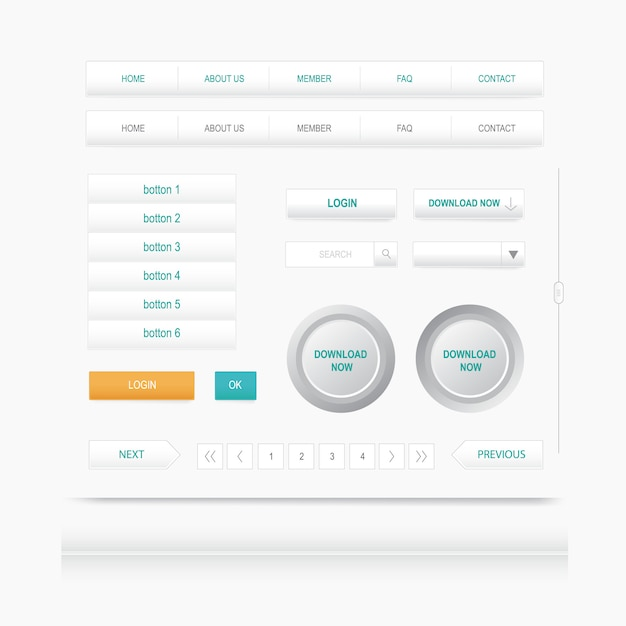 Set web elements  site navigation menu button  design