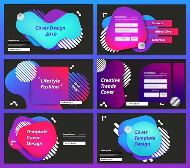 Set of web page design templates Premium Vector