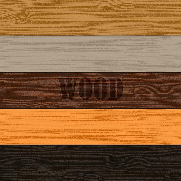 Set of wood textures Premium Vector
