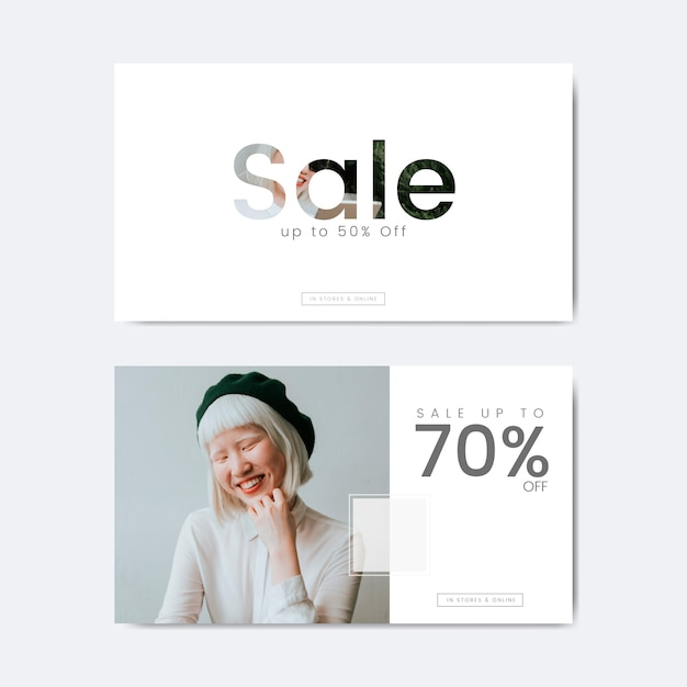Seventy percent off sale Free Vector