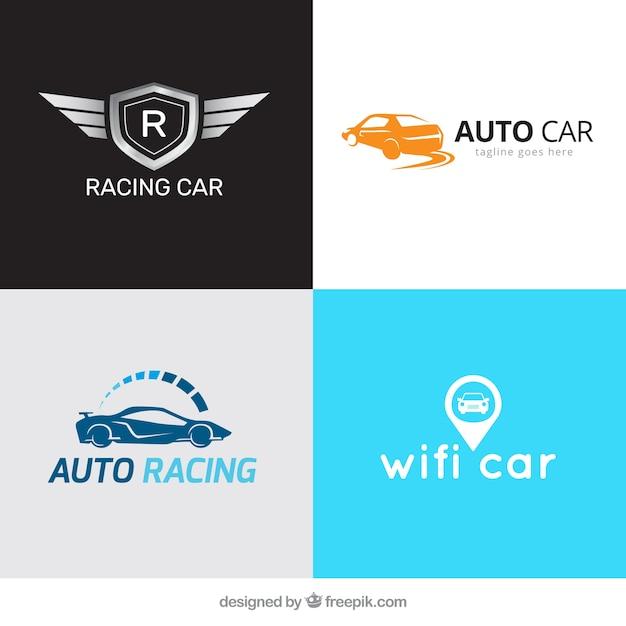 Several car logos Free Vector