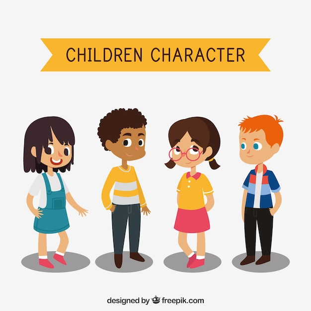 Character Design For Children S Books : Several children s characters vector free download