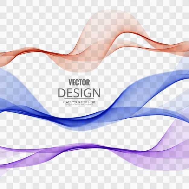 Line Design Art Psd : Several colored waves vector free download