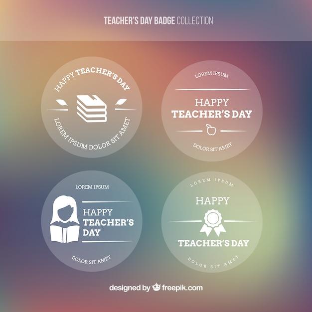 Several decorative teacher\'s day\ stickers