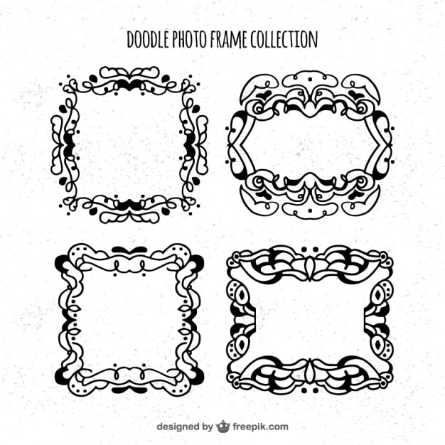Several hand-drawn frames Vector | Free Download