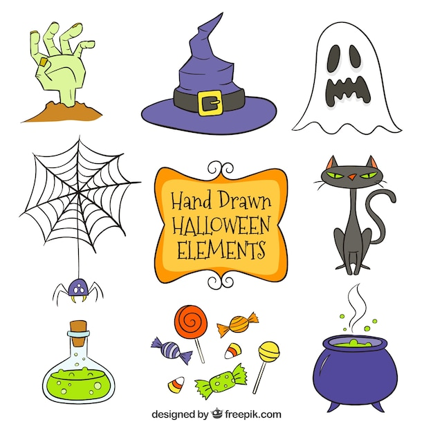 several hand drawn halloween items vector free download free ghost clip art images free ghost clipart bow