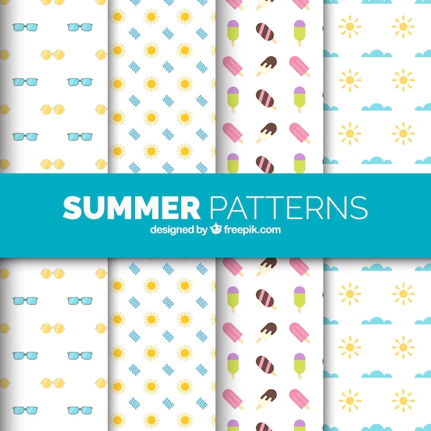 Several patterns with summer elements