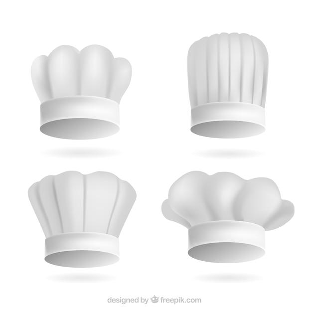 Several realistic chef hats Vector  faf176f9f86