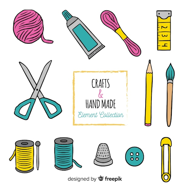 Sew element pack Free Vector