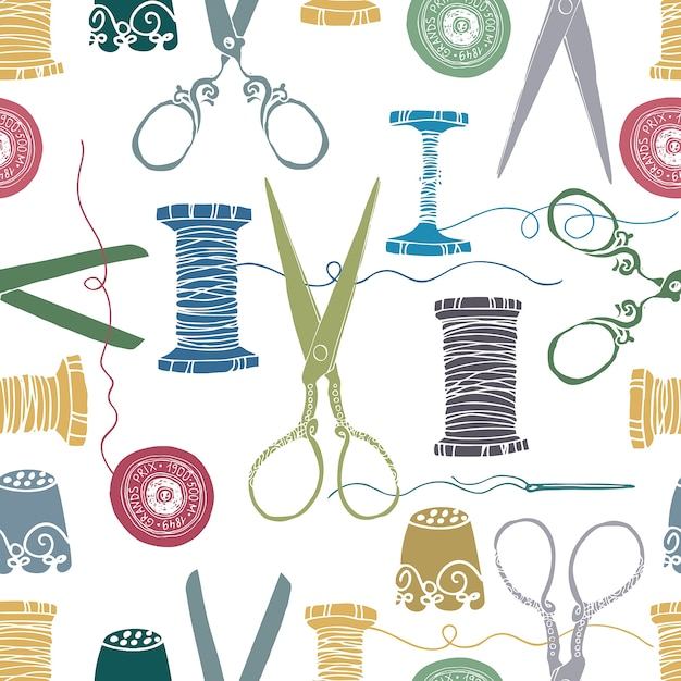 Sewing color background Free Vector