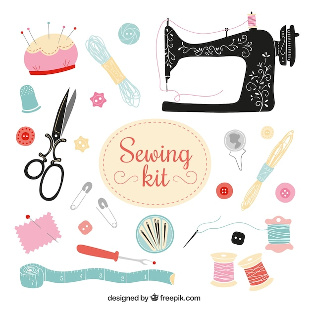 Sewing kit Free Vector