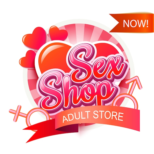 Sex shop logo Premium Vector