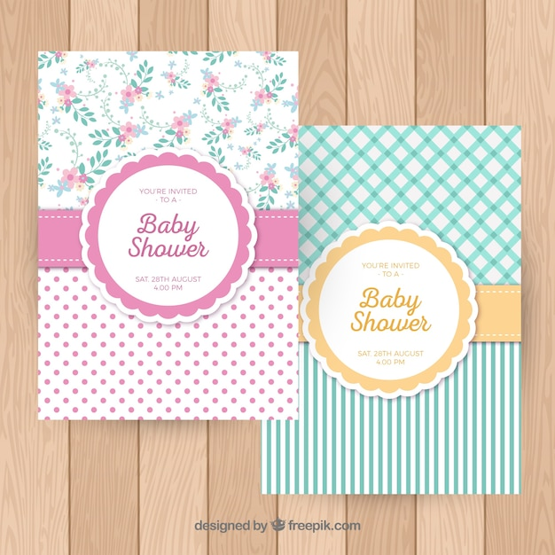 Shabby chic cards Free Vector. Shabby chic cards Vector   Free Download