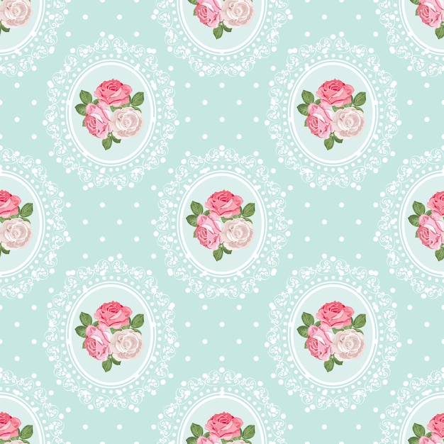 shabby chic easter decor on sale.htm shabby chic rose seamless pattern on polka dot background  shabby chic rose seamless pattern on