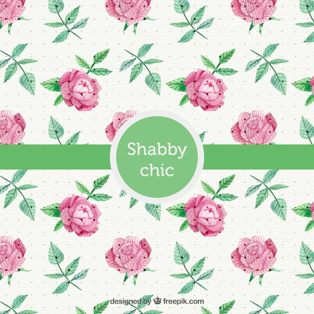 Shabby Chic Style Background Free Vector