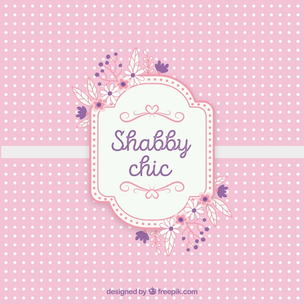 Shabby Chic Text Card Free Vector