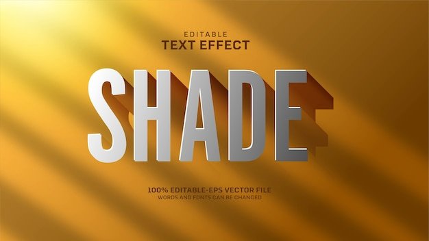 Shade text effect Free Vector