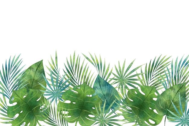 녹색 열대 벽화 벽지의 그늘 무료 벡터