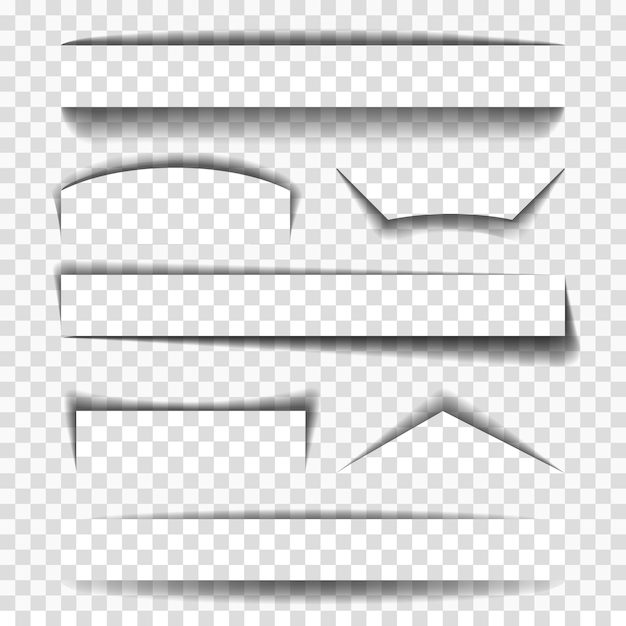 Shadow vector elements for pages Premium Vector