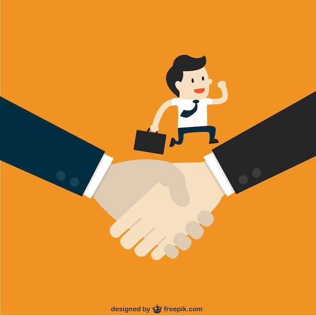 Shaking hands in business Free Vector