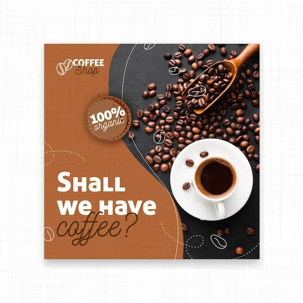 Может у нас есть флаер с кофе Premium векторы