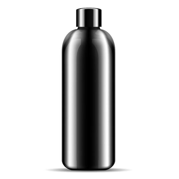 Shampoo shower gel cosmetics bottle mockup. Premium Vector