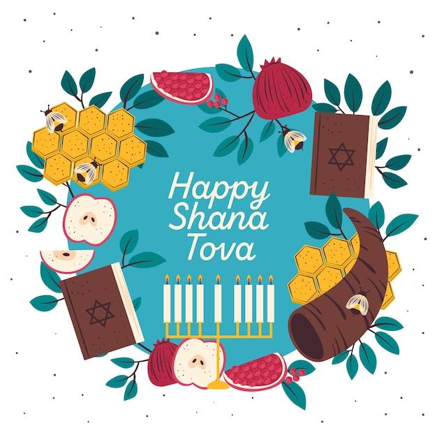 Celebrazione di shana tova Vettore gratuito