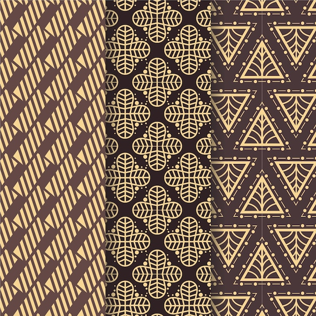 Shapedart deco seamless pattern Free Vector