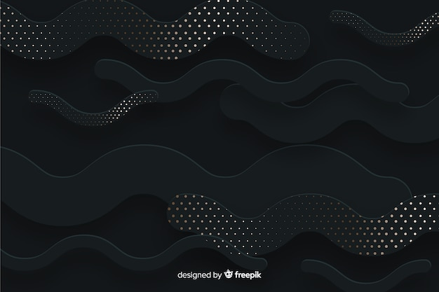 Shapes background with halftone effect Free Vector